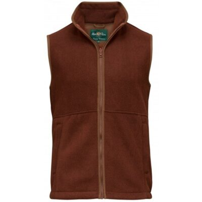 Alan Paine Aylsham Mens Fleece waistcoat russet