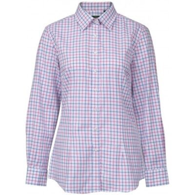 Alan Paine Bromford Ladies Check Shirt - Blue and Pink